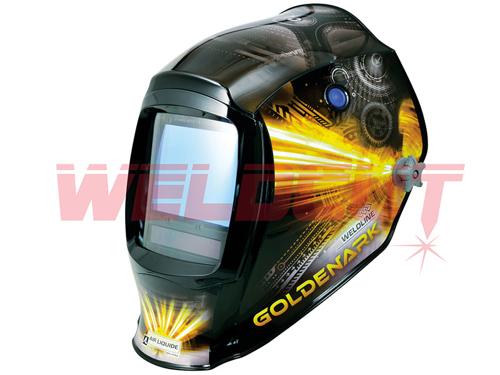 Autodarkening Welding helmet  Weldline Goldenark