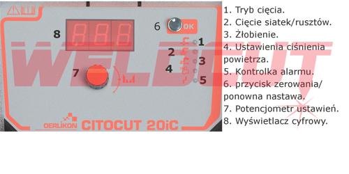 Przecinarka plazmowa Oerlikon CITOCUT 20i